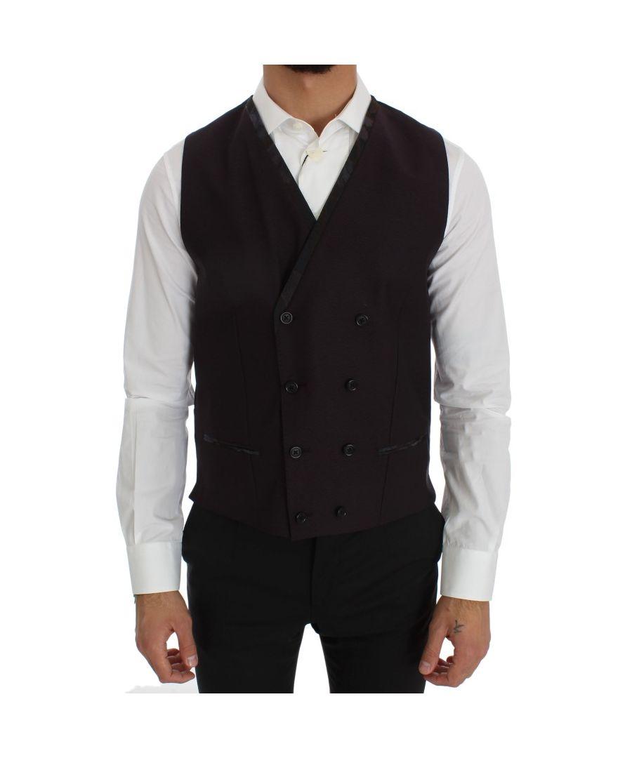 Image for Dolce & Gabbana Purple Wool Blend Formal Vest