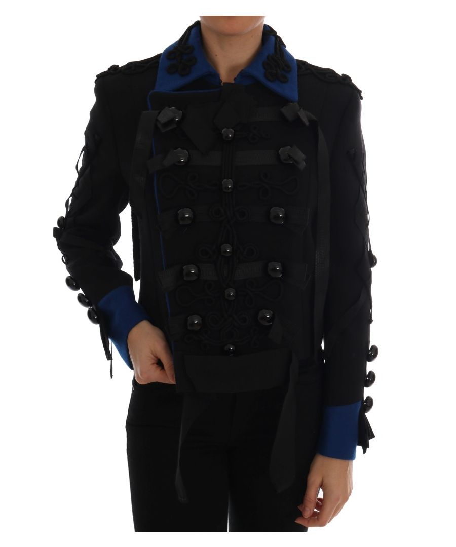 Image for Dolce & Gabbana Black Wool Trench Jacket