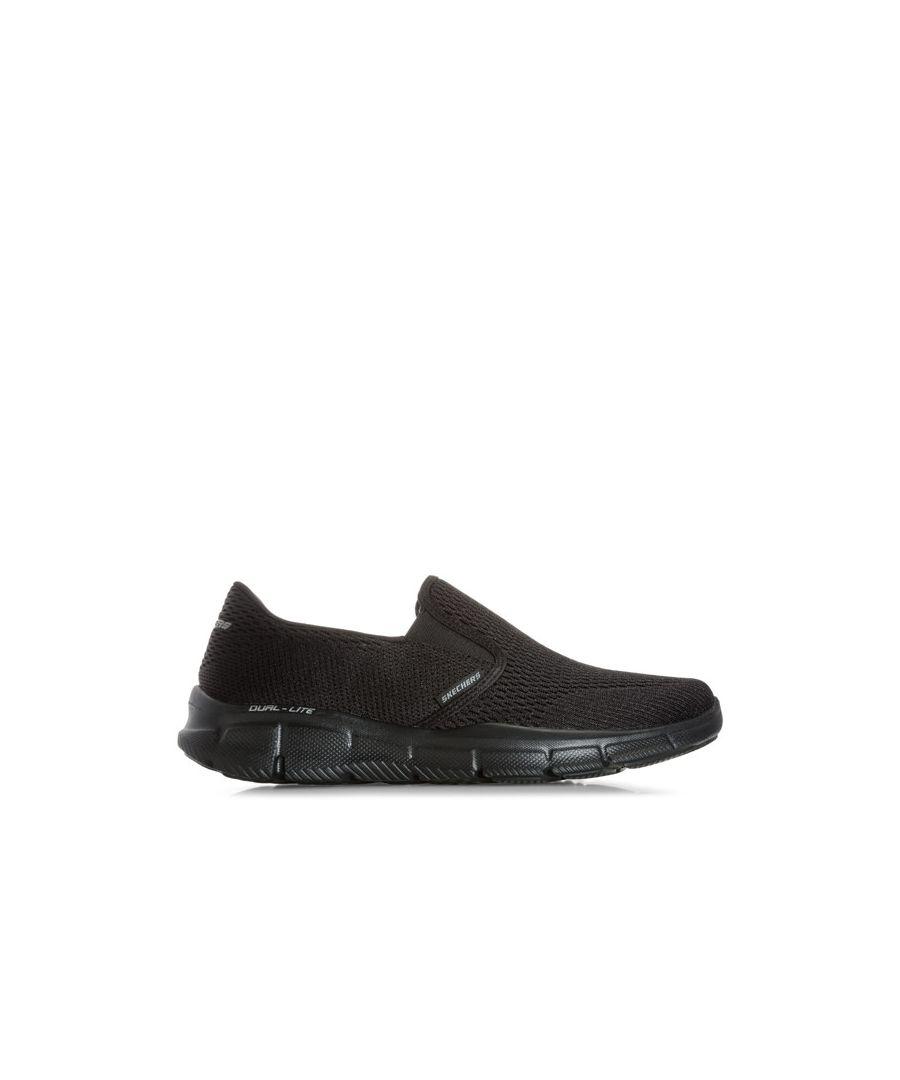 Image for Men's Skechers Equaliser Double Play Slip On Trainers In Black
