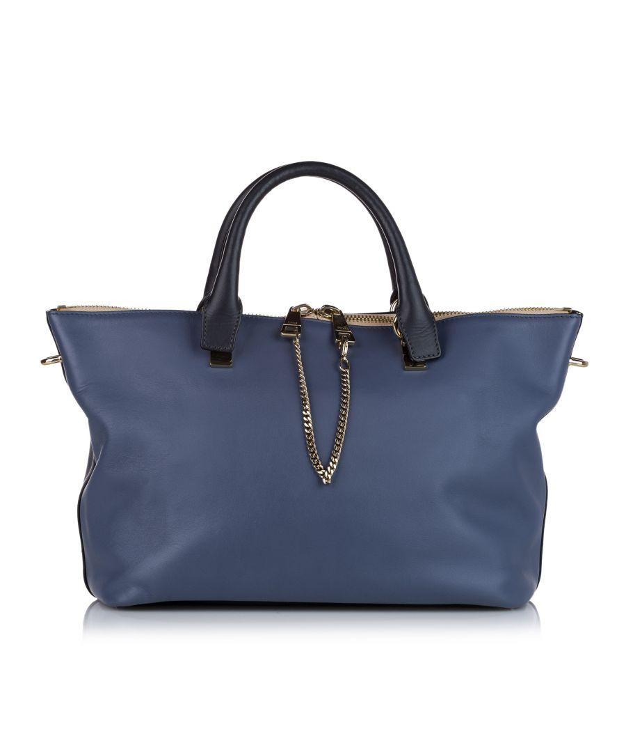 Image for Vintage Chloe Bailey Leather Satchel Blue