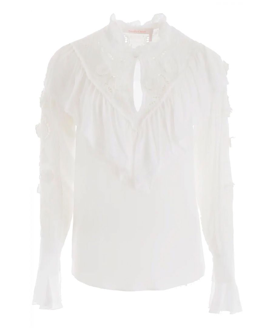 Image for SEE BY CHLOÉ WOMEN'S CHS19AHT12038107 WHITE VISCOSE SHIRT
