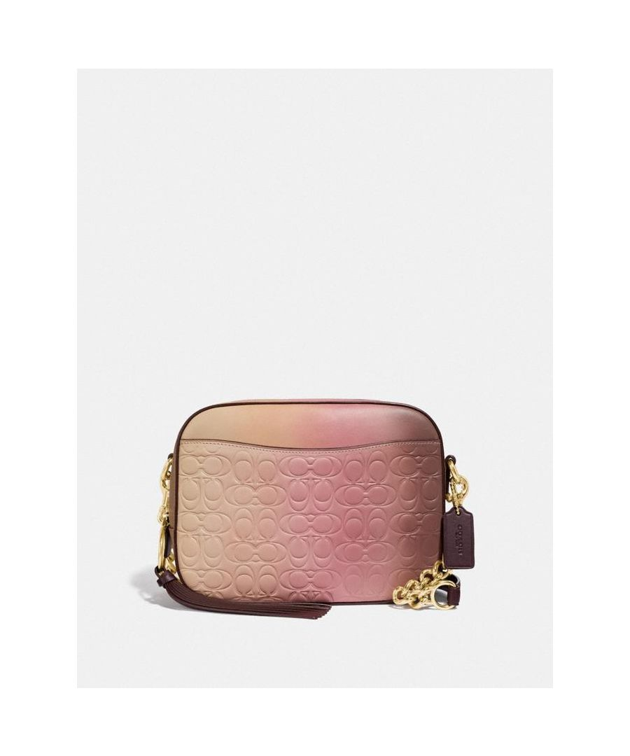 Image for COACH Camera Bag In Ombre Signature Leather