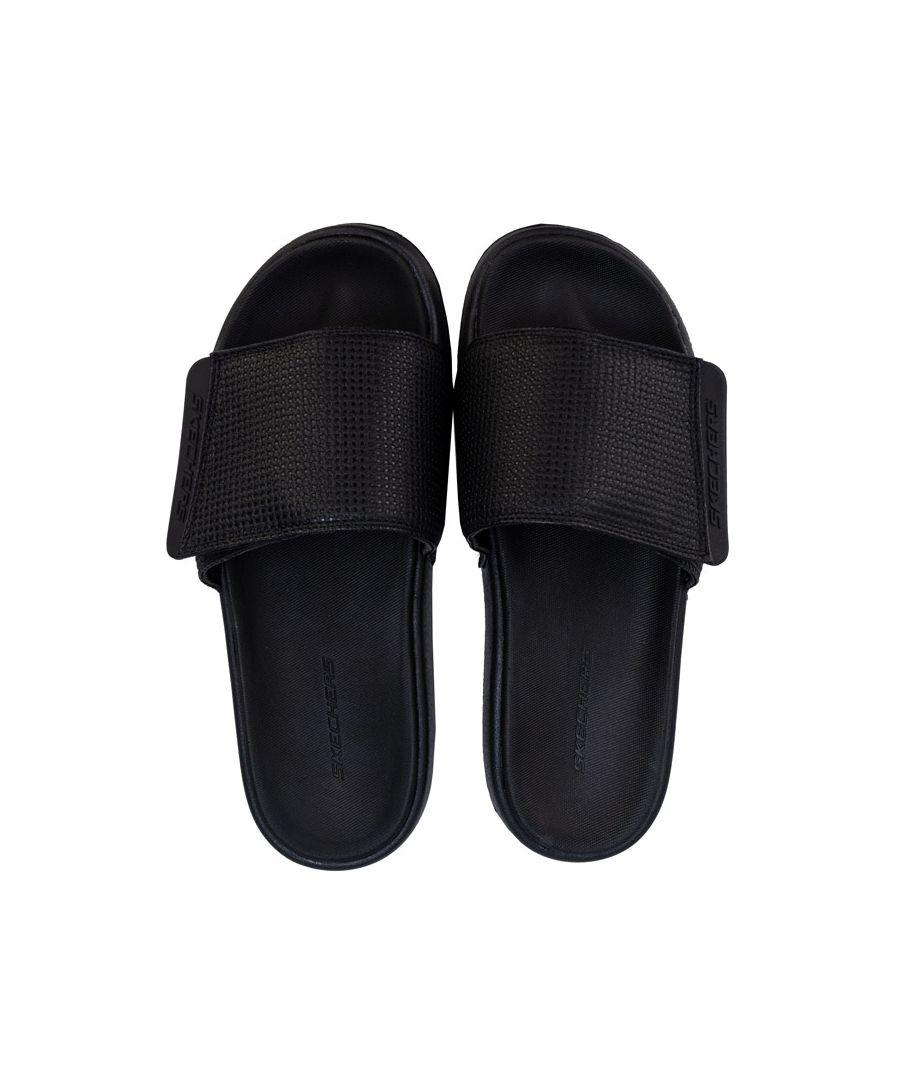 Image for Men's Skechers Gambix 2.0 Slide Sandal in Black