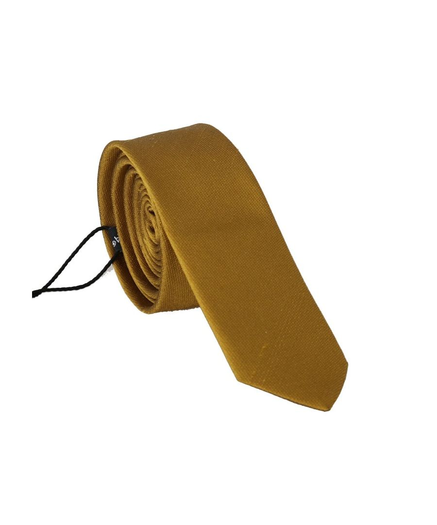 Image for Dolce & Gabbana Yellow Silk Solid Slim Tie