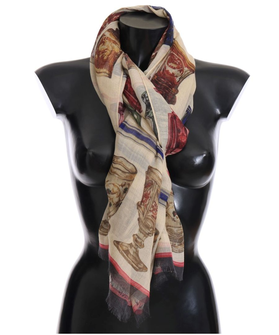 Image for Dolce & Gabbana Multicolor Silk Cashmere Scarf