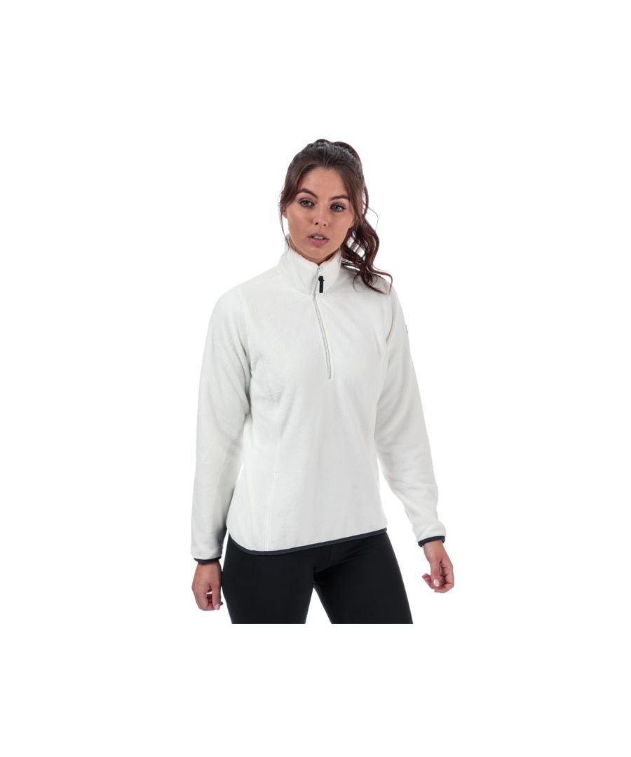Image for Women's Helly Hansen Feather Pile 3 Quarter Zip Fleece in Off White