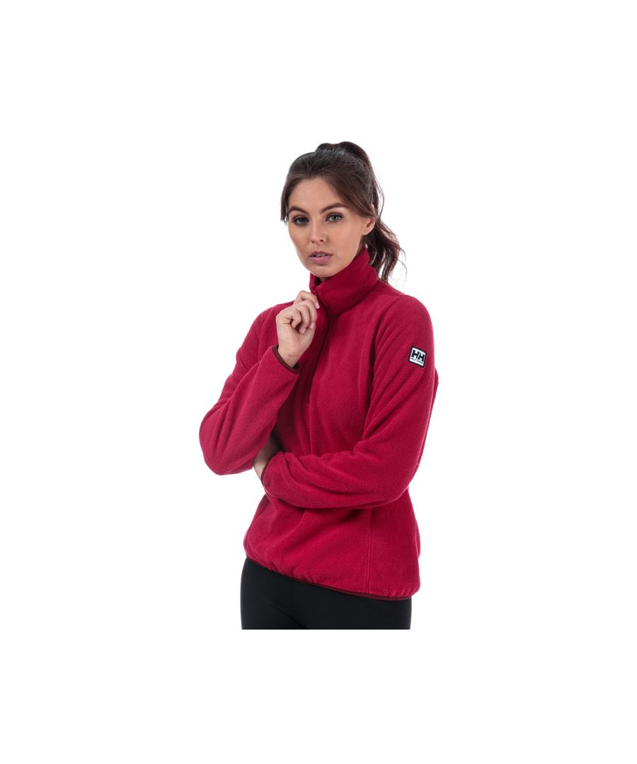 Image for Women's Helly Hansen Feather Pile 3 Quarter Zip Fleece in Red