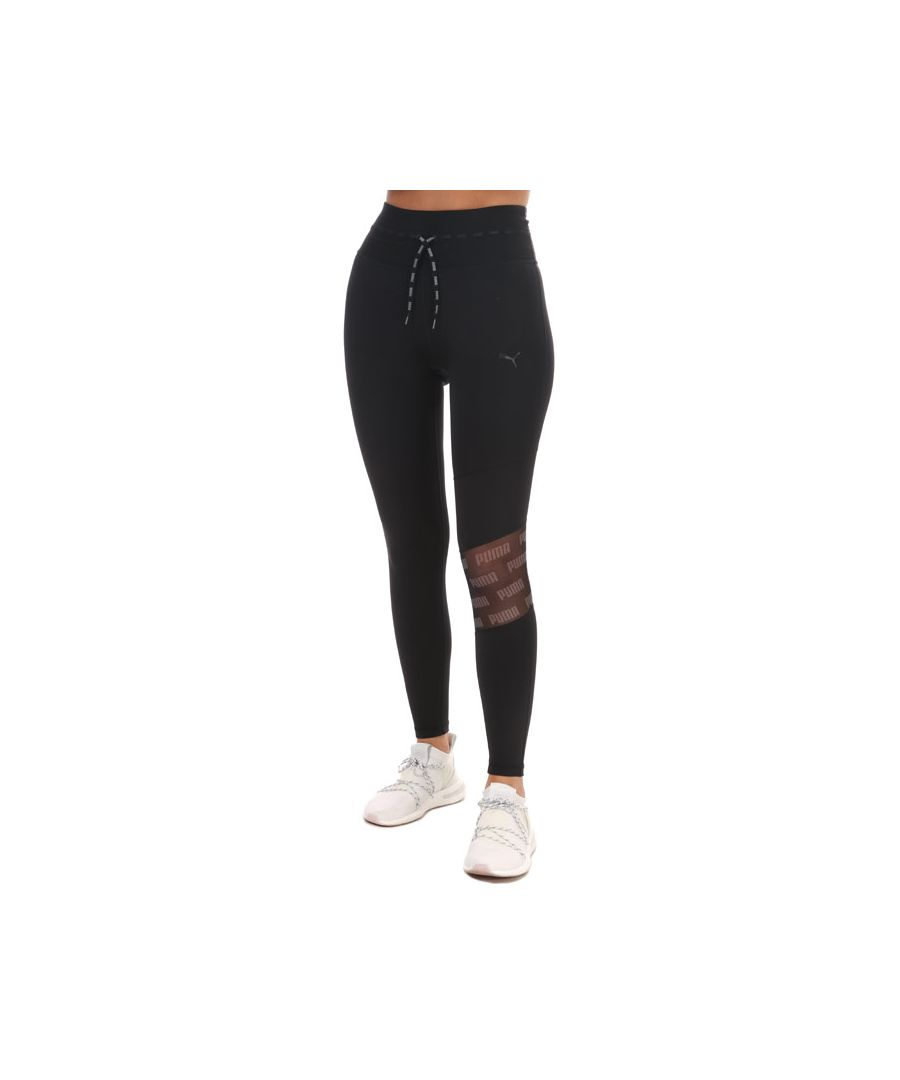 Image for Women's Puma Feel It Mesh 7/8 Tights in Black