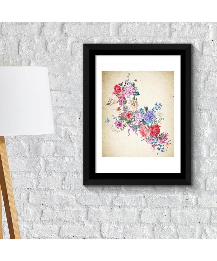 Image for Walplus Framed Art 2in1 Flower Arts 3 Poster wall decal, wall decal flowers, Framed Photo, Framed Art