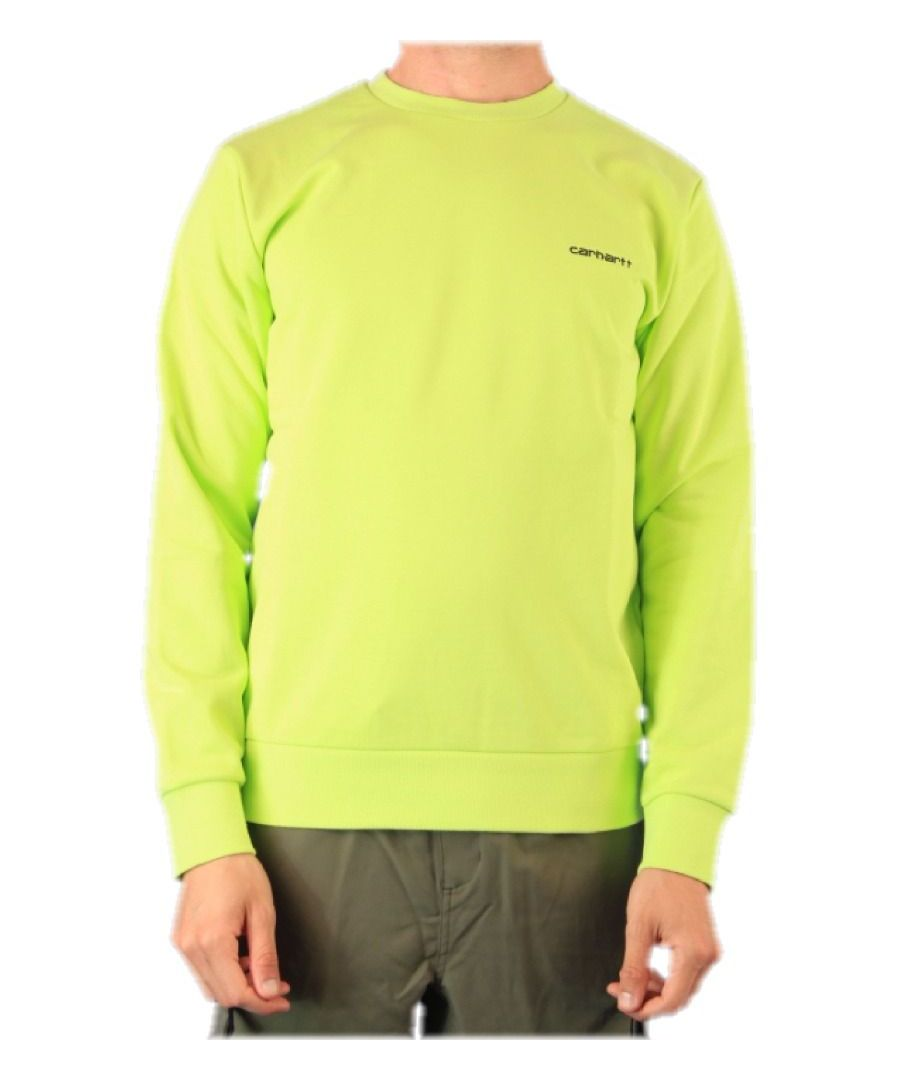 Image for CARHARTT MEN'S I024678LIME GREEN COTTON SWEATSHIRT