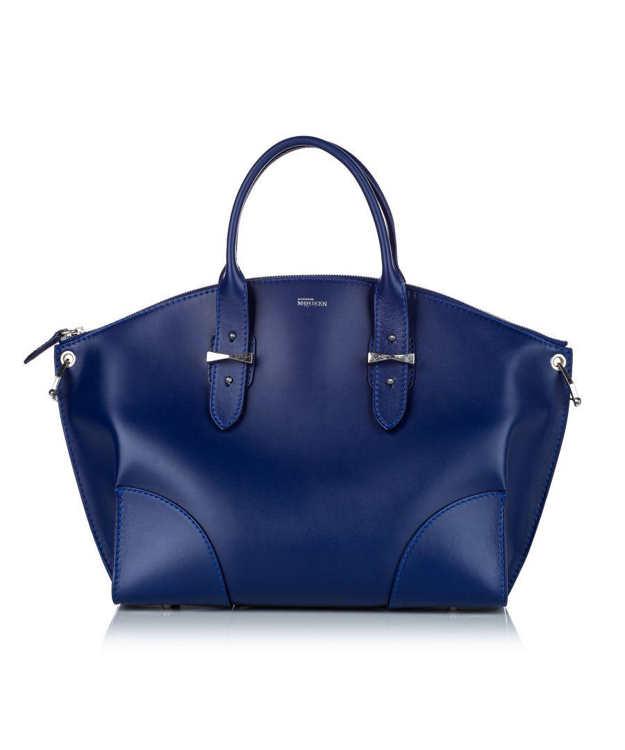 Image for Vintage Alexander McQueen Legend Leather Satchel Blue