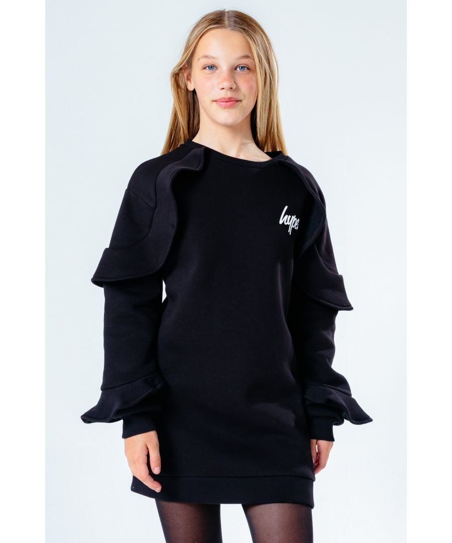 Image for Hype. Frill Detail Girls Sweat Dress