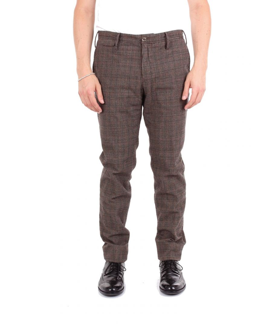 Image for PT01 MEN'S BB17DLTMZ10W0LBROWN BROWN COTTON PANTS