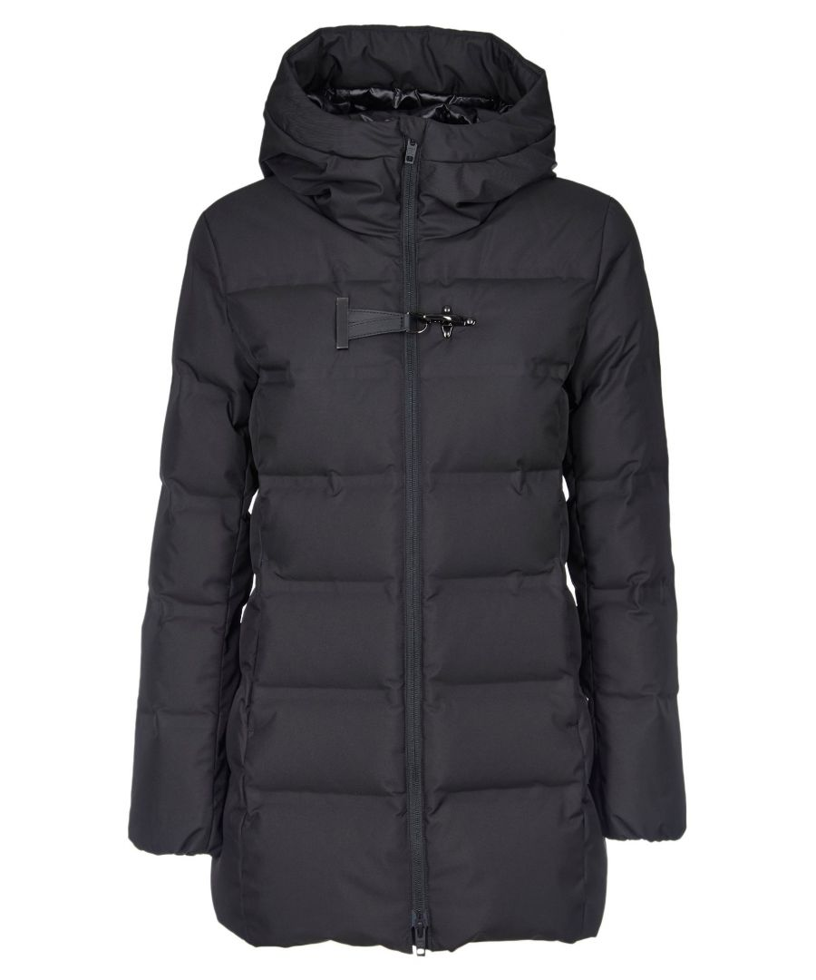 Image for FAY WOMEN'S NAW33393960QKJB999 BLACK POLYESTER DOWN JACKET
