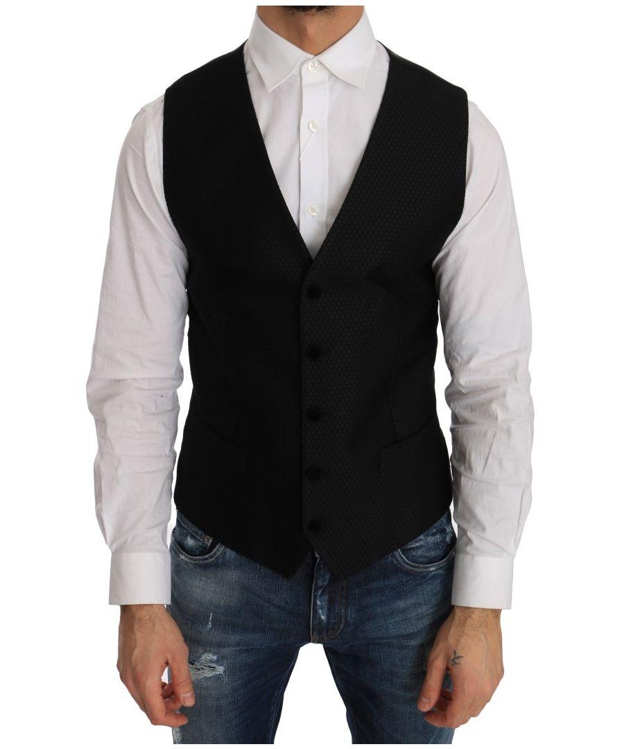 Image for Dolce & Gabbana Black Polka Dot Pattern Vest