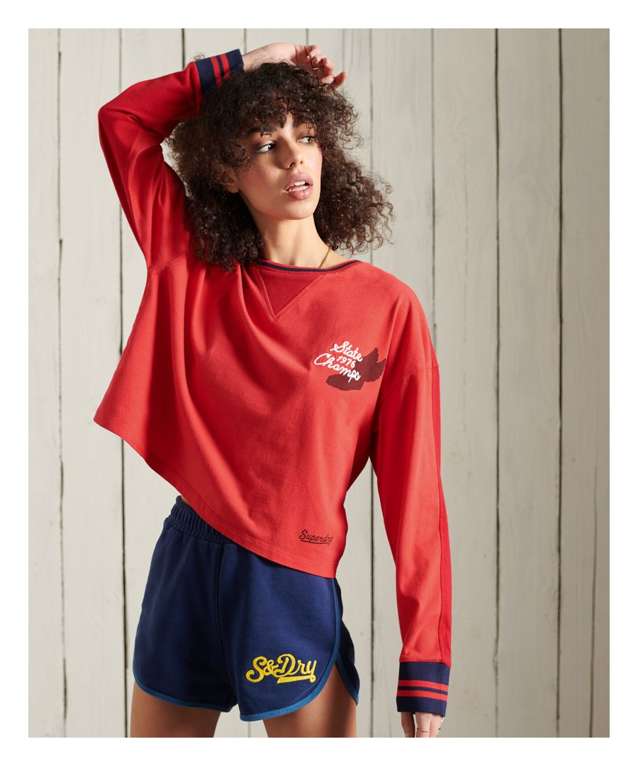 Image for Superdry Collegiate Graphic Long Sleeve Top