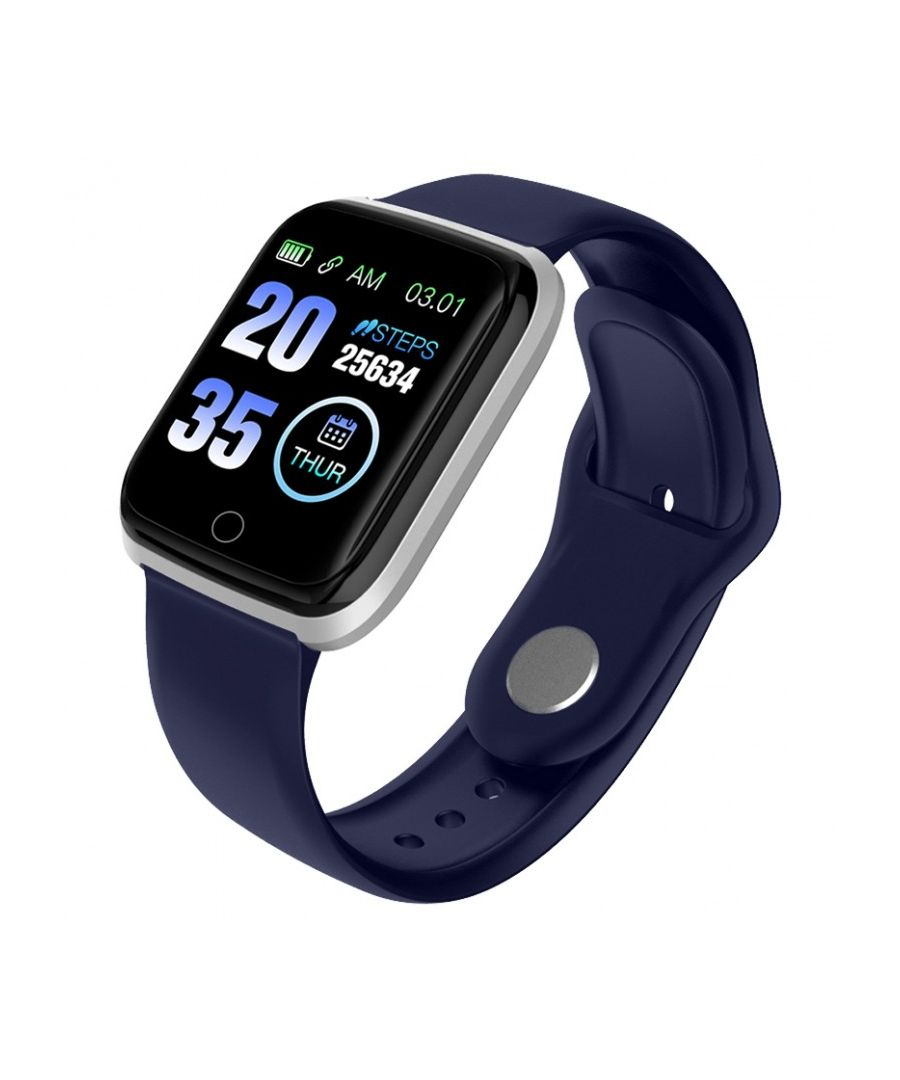 Image for LKS Unisex M6 Bluetooth Smart Watch, Blue