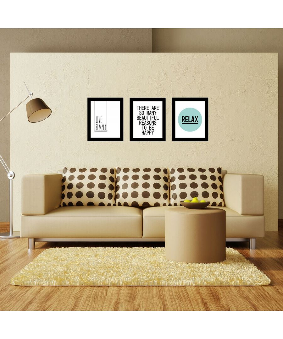 Image for Live Simply Art Canvas Printing + Letter Art Canvas Printing + Relax Art Canvas Printing Framed Photo, Framed Art