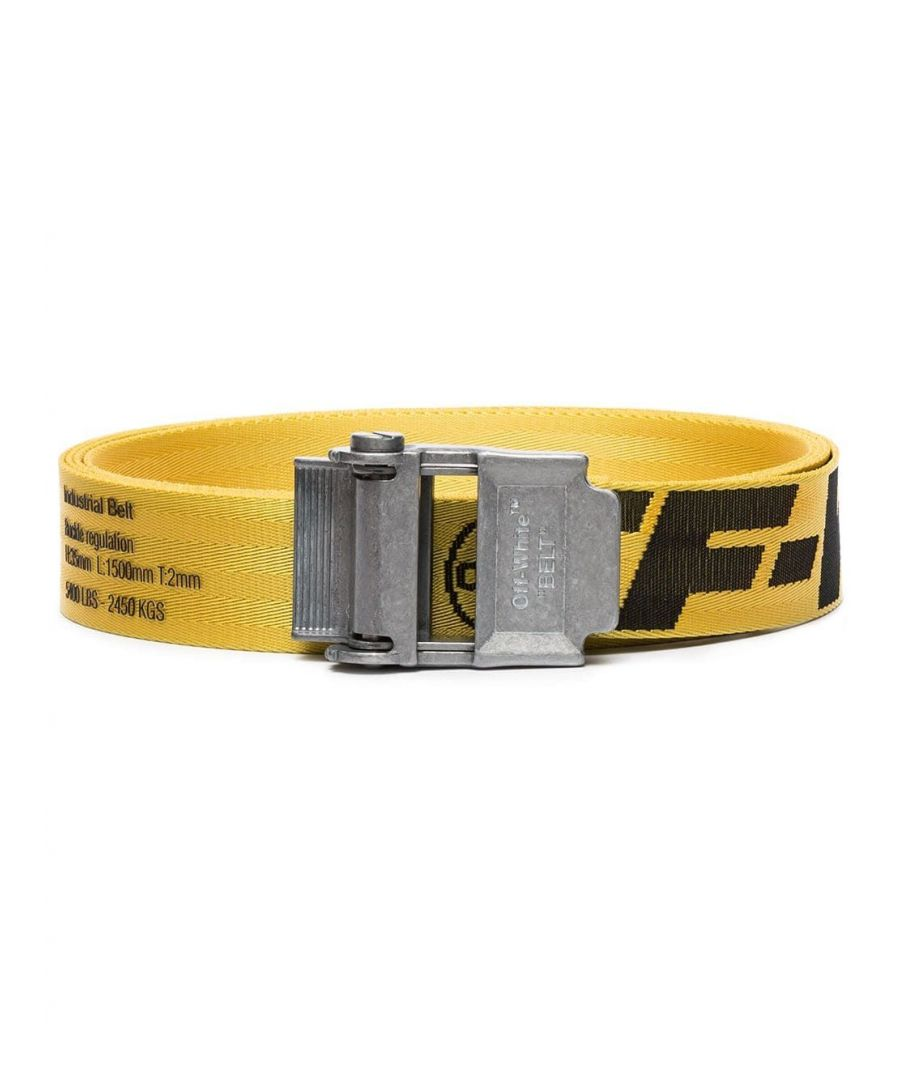 Image for OFF-WHITE MEN'S OMRB012F19F420286010 YELLOW FABRIC BELT
