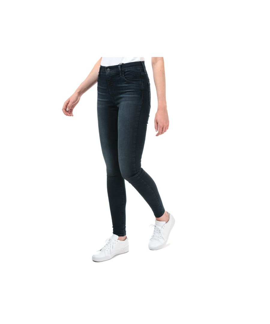 Image for Women's Levis 720 High Rise Super Skinny Jeans in Dark Blue