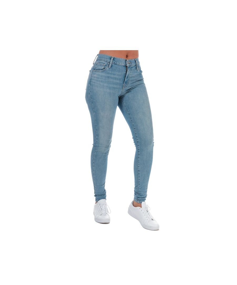 Image for Women's Levis 720 High Rise Super Skinny Jeans Light Blue 25Sin Light Blue