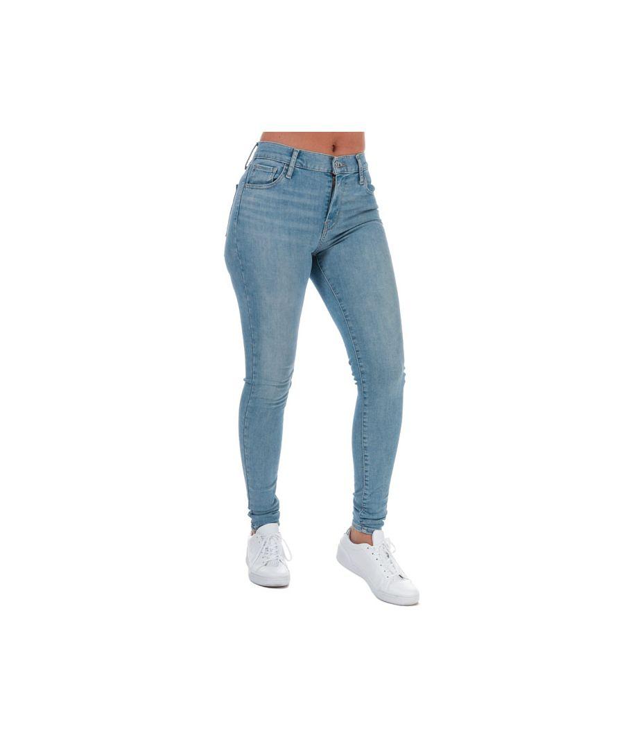 Image for Women's Levis 720 High Rise Super Skinny Jeans Light Blue 25Sin Light Blue