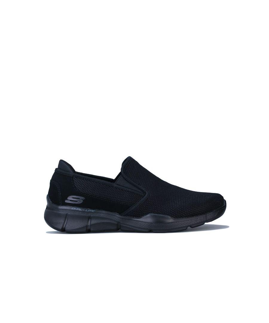 Image for Men's Skechers Equaliser 3.0 Summin Slip on Trainer in Black