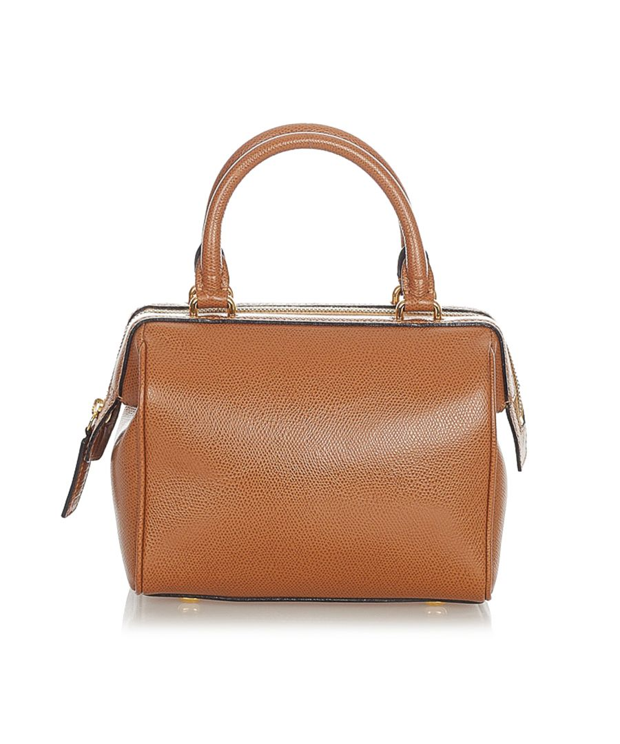 Image for Vintage Celine Leather Satchel Brown
