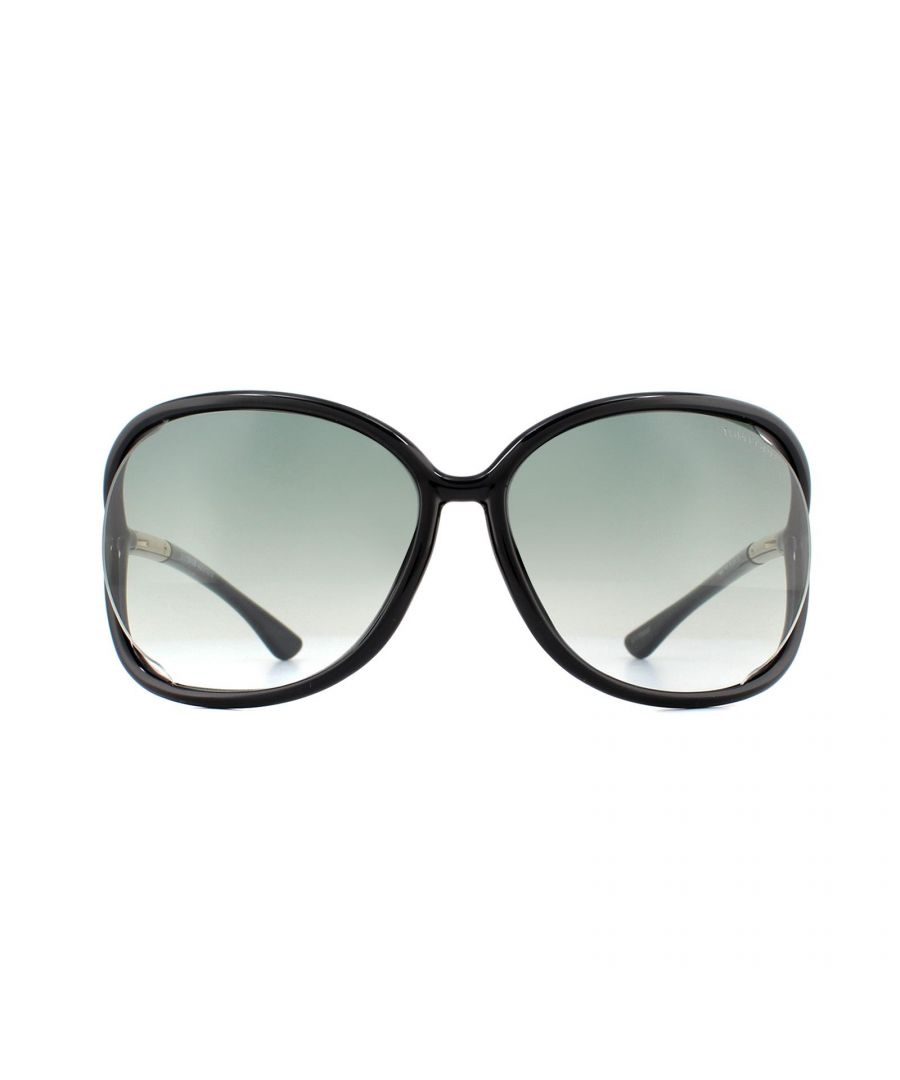 Image for Tom Ford Sunglasses 0076 Raquel 199 Black Grey Gradient