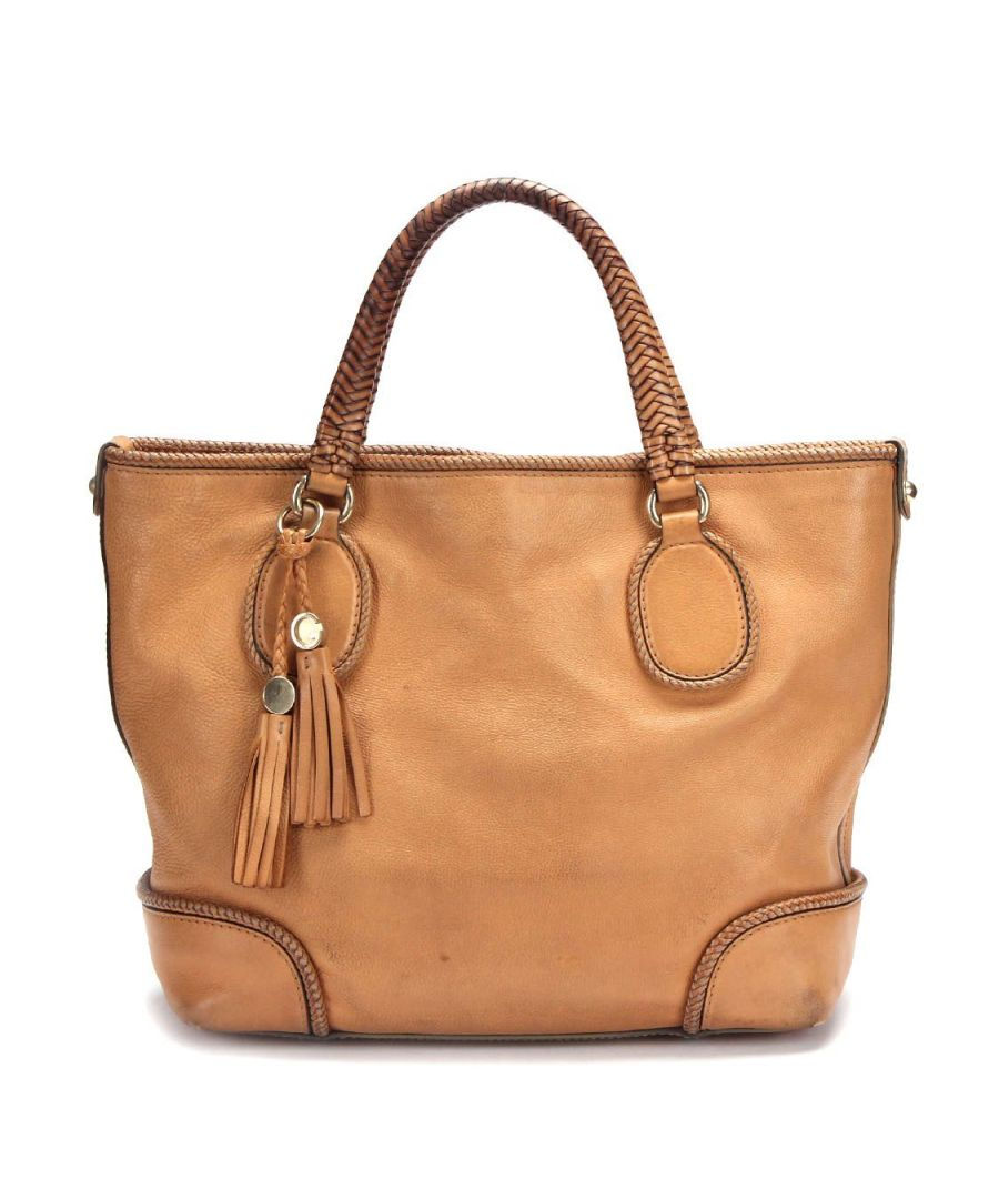 Image for Gucci Gucci Marrakech Leather Tote Bag In Brown Calfskin Leather -Pre Owned Condition Gently Loved