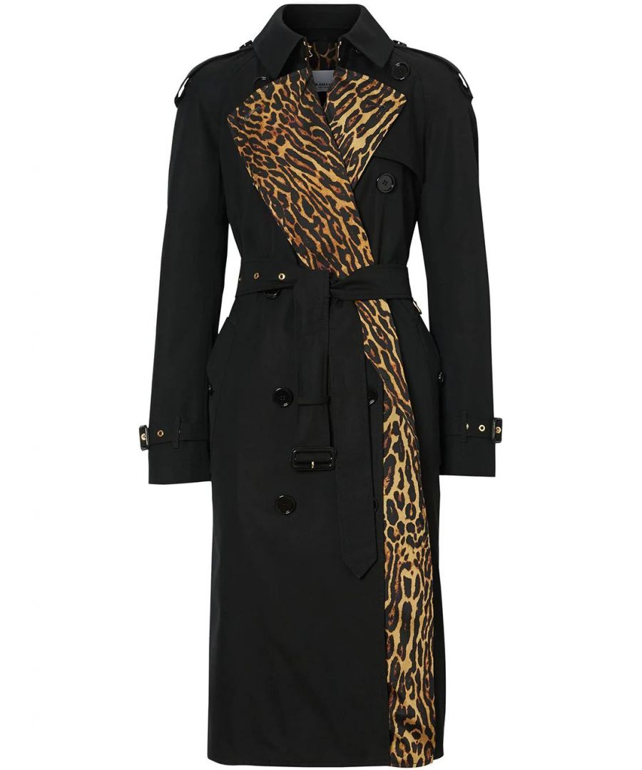 Image for BURBERRY WOMEN'S 8024437 BLACK COTTON TRENCH COAT
