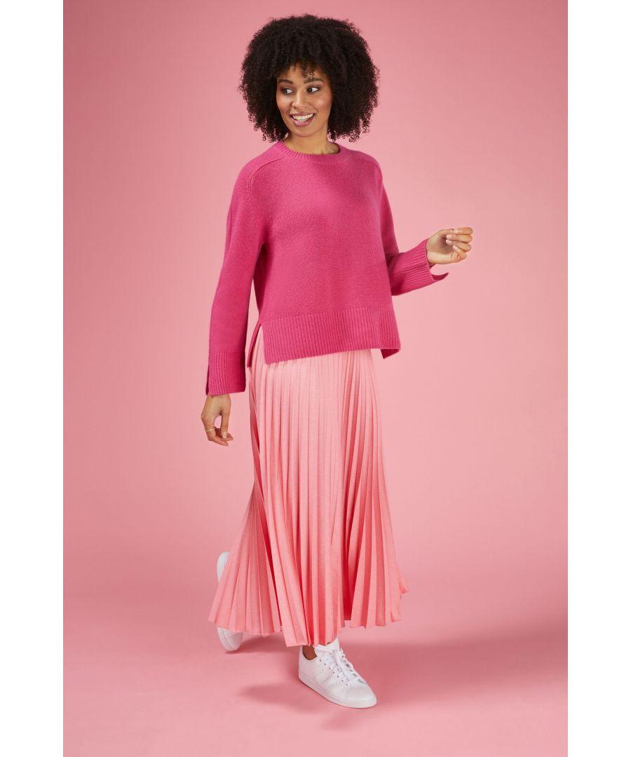 Image for Cashmere Sweatshirt in Hibiscus