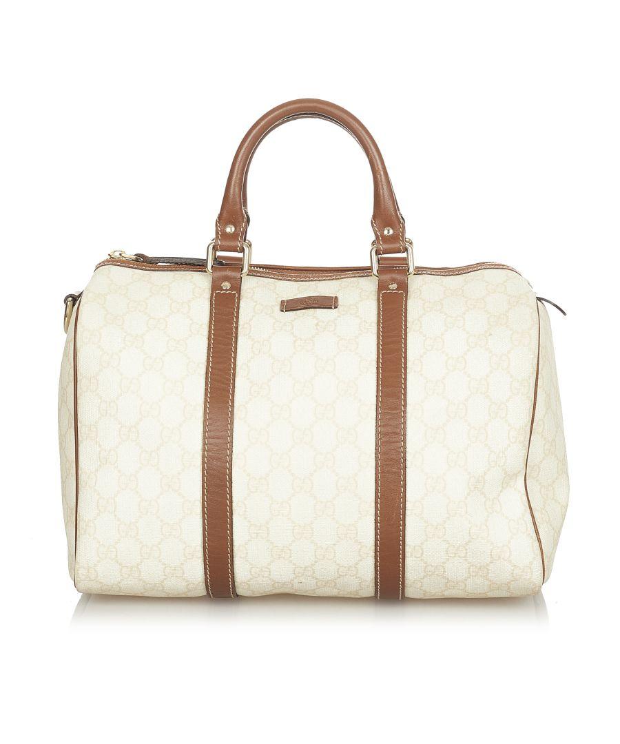 Image for Vintage Gucci GG Supreme Joy Boston Bag Brown