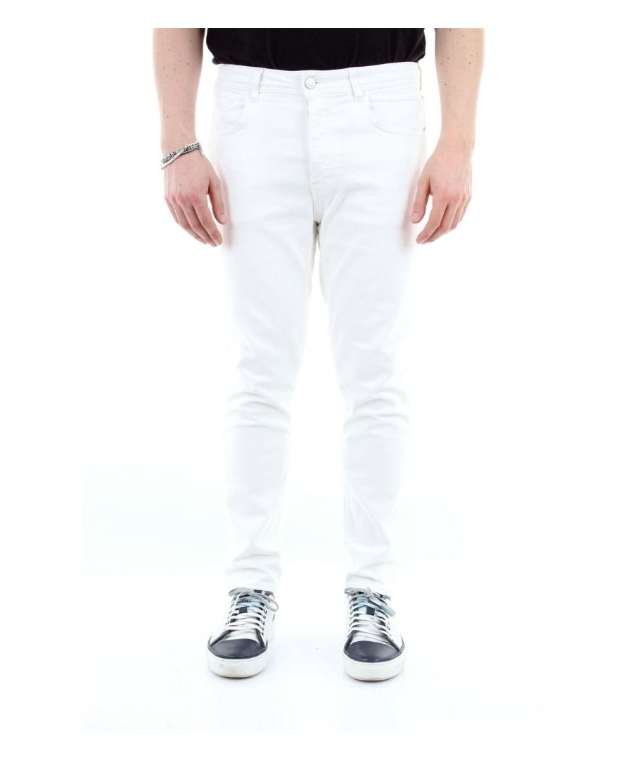 Image for HAIKURE MEN'S HEM03164GS155BIANCO WHITE COTTON JEANS