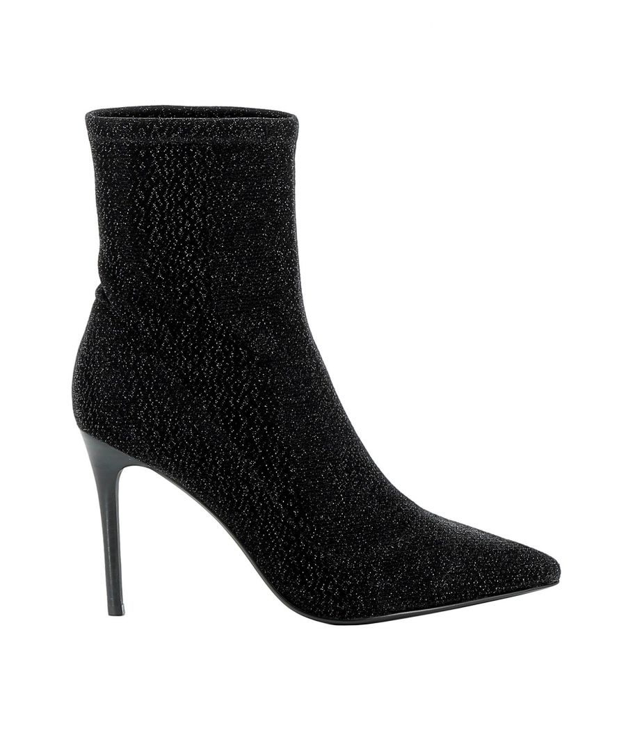Image for KENDALL + KYLIE WOMEN'S KKMILLIE01 BLACK FABRIC ANKLE BOOTS