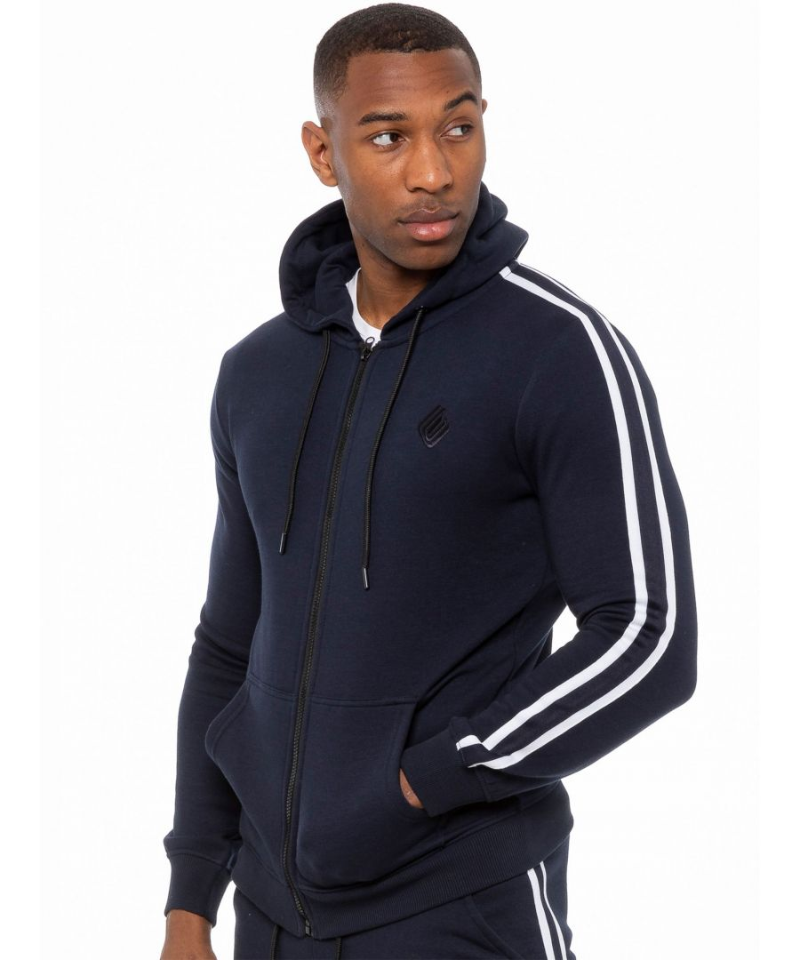 Image for Enzo Men's Zip Up Hoodie With Tape