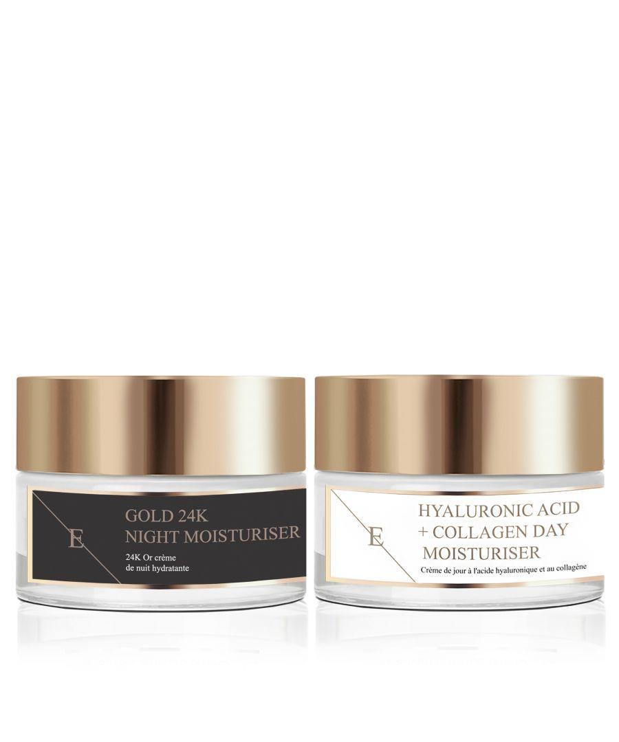Image for Anti-Wrinkle Night Moisturiser 24K Gold - 50ml + Hyaluronic Acid & Collagen Amino Acids Day Cream