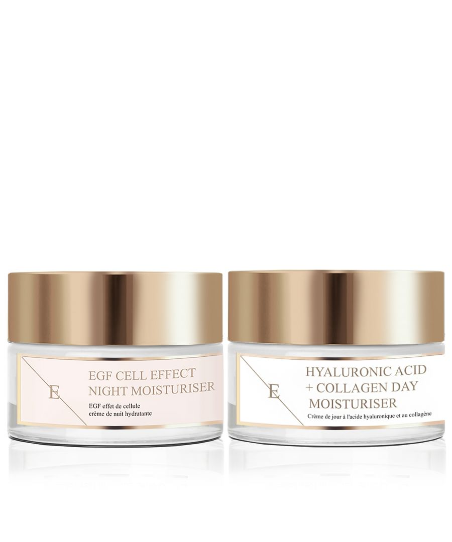 Image for Hyaluronic Acid & Collagen Amino Acids Day Cream + EGF Cell Effect Night Moisturiser 50ml
