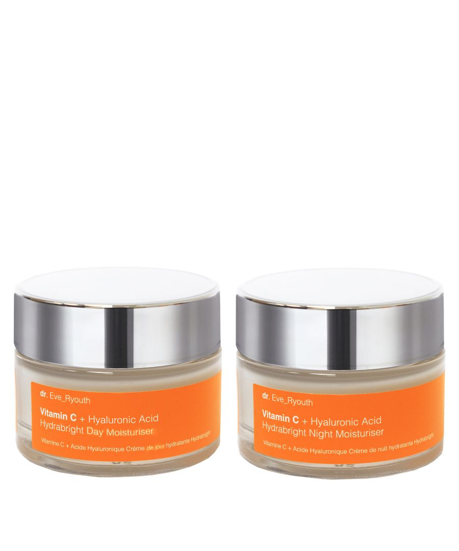 Image for Vitamin C + Hyaluronic Acid Hydrabright Day Moisturiser 50ml &  VitaminC+ Hyaluronic Acid Hydrabright Night Moisturiser 50ml