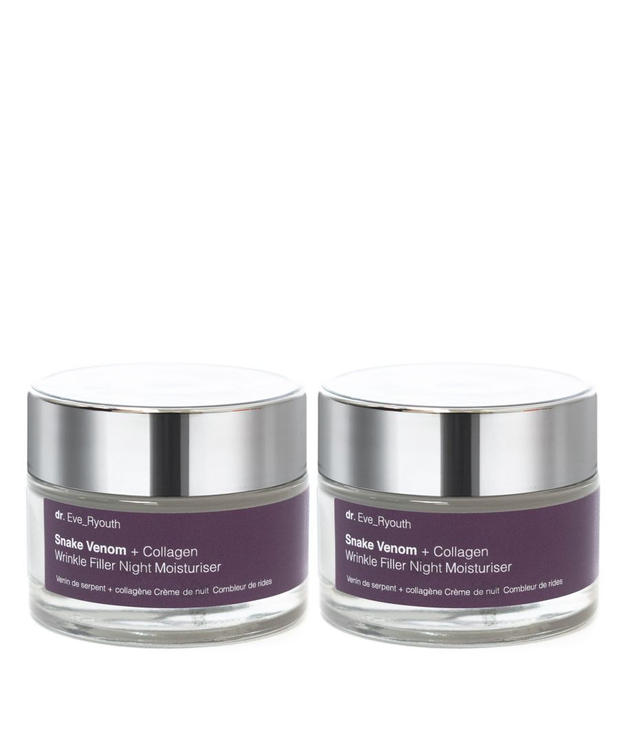 Image for 2 x Snake Venom + Collagen Wrinkle Filler Night Moisturiser 50ml