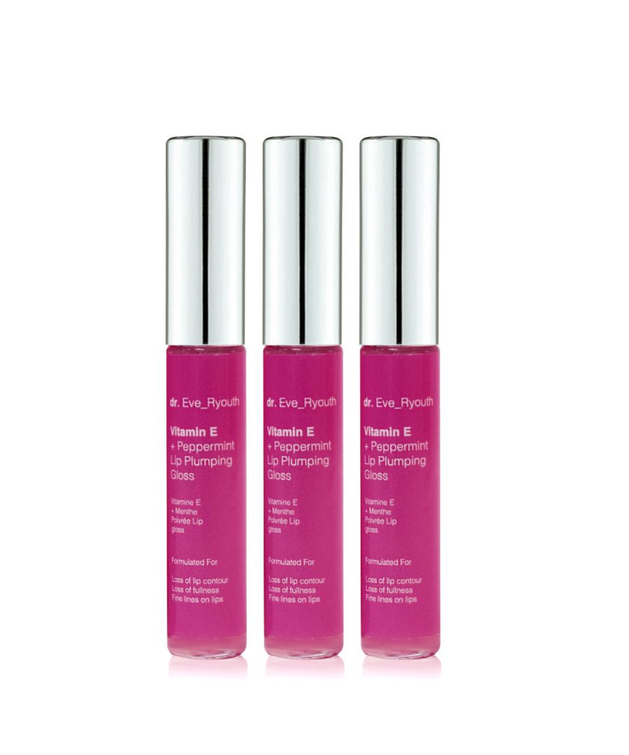 Image for 3 x Vitamin E and Peppermint Lip Plumps 8ml