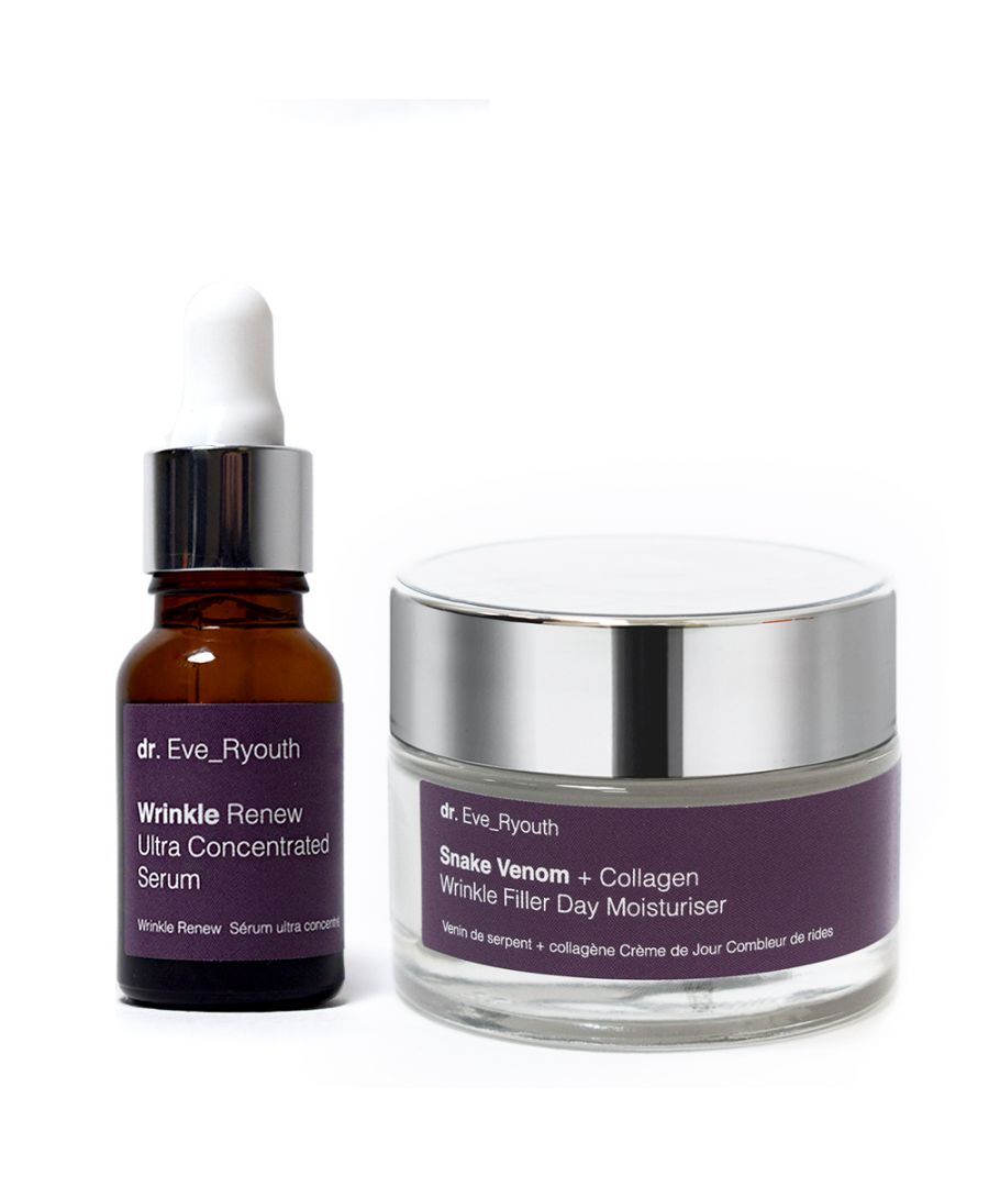 Image for Wrinkle Renew Ultra Concentrated Serum 15ml & Snake Venom + Collagen Wrinkle Filler Day Moisturiser 50ml