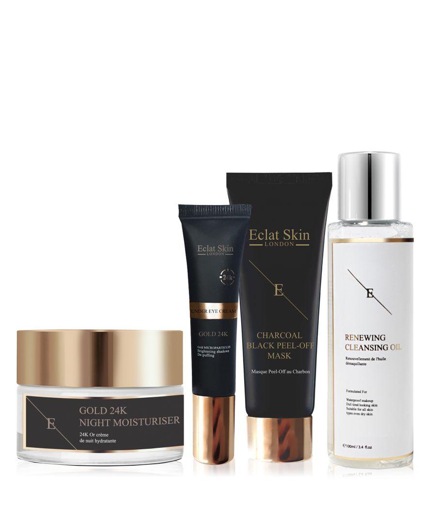Image for Anti-Wrinkle Night Moisturiser 24K Gold + Under Eye Cream 24K Gold + Face Mask + Renewal Cleansing Oil 100ml