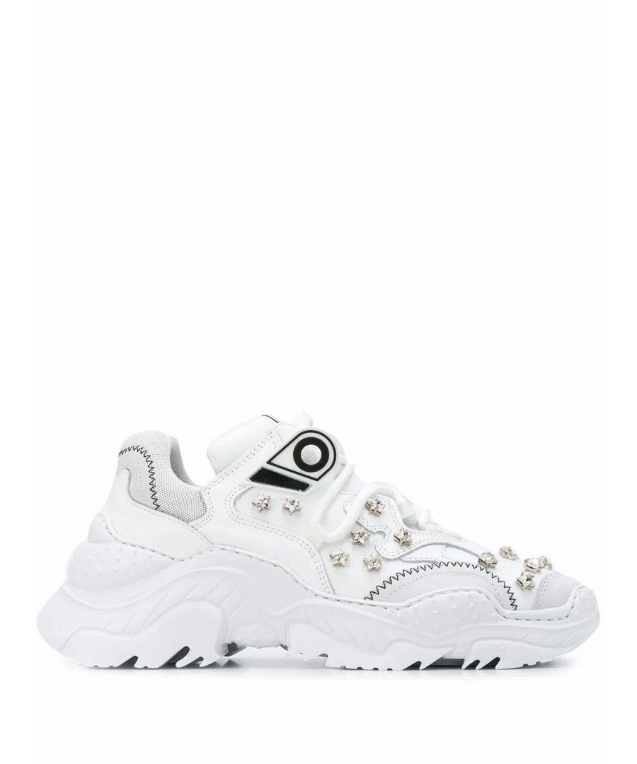 Image for N°21 WOMEN'S 20ESP00150015W001 WHITE LEATHER SNEAKERS