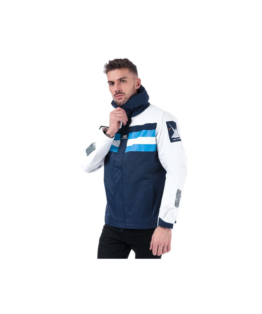 Image for Men's Helly Hansen Heritage Sail Jacket in White blue
