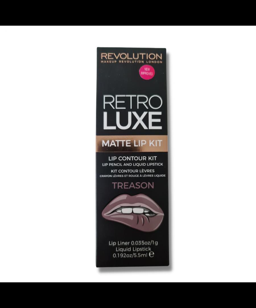 Image for Makeup Revolution London Retro Luxe Lip Contour Kit Lipstick & Liner - Treason