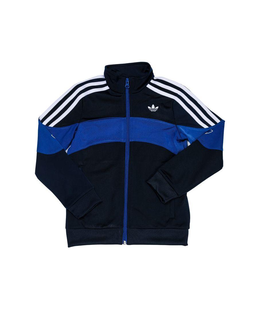 Image for Boys' adidas Originals Junior Bandrix Track Jacket Indigo 8-9in Indigo