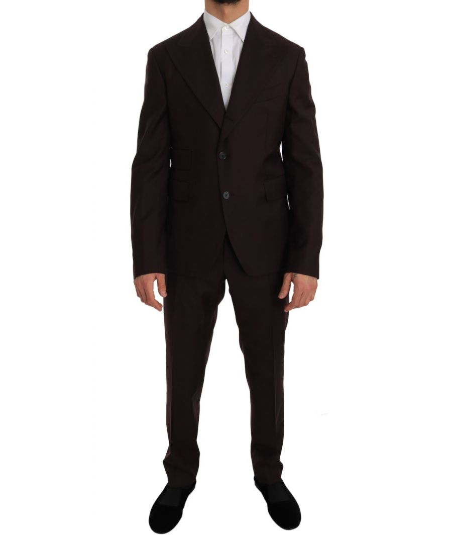 Image for Dolce & Gabbana Bordeaux Wool Two Button Slim Fit Suit