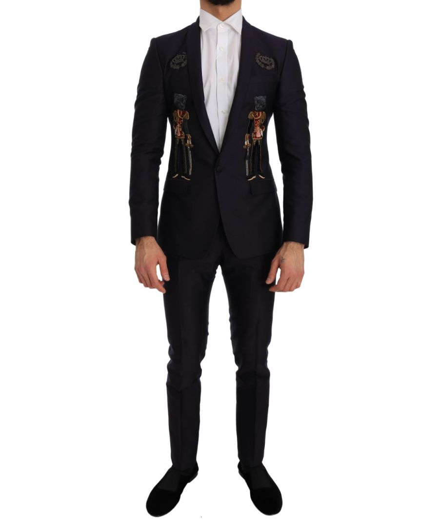 Image for Dolce & Gabbana Purple Crystal Crown 3 Piece MARTINI Suit