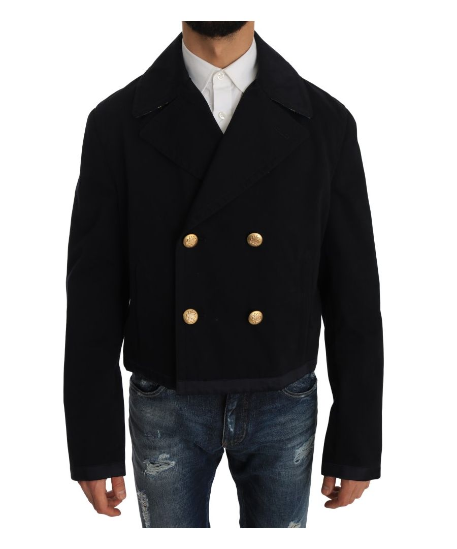 Image for Dolce & Gabbana Trench Blue Cotton Stretch Jacket Coat